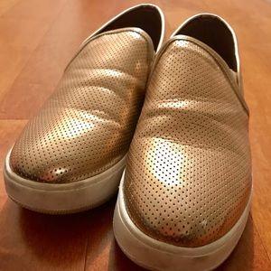 Steve Madden Slip-On Sneakers GOLD Size 10